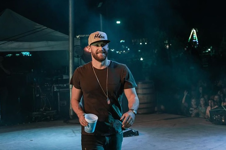 Chase Rice in Head Down Eyes Up; Photo via Instagram