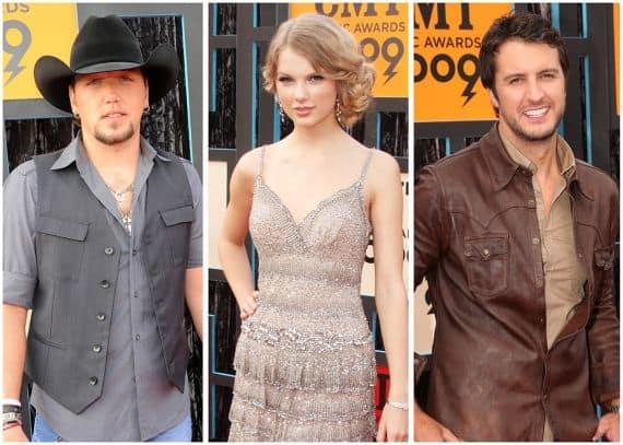 Jason Aldean, Taylor Swift, Luke Bryan