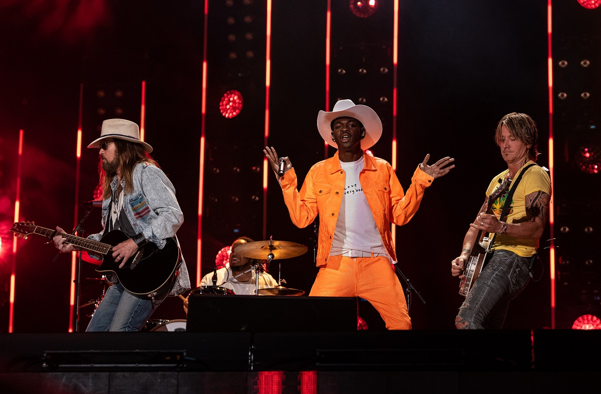 Billy Ray Cyrus, Lil Nas X and Keith Urban; Photo by Andrew Wendowski