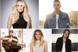 Carrie Underwood, Kane Brown, Luke Combs, Kelsea Ballerini, Keith Urban; Artist Publicity Photos