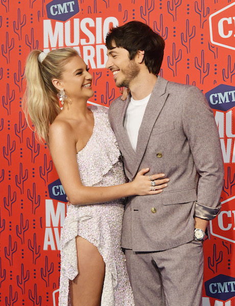 Kelsea Ballerini and Morgan Evans; Photo by Mike Coppola/Getty Images for CMT