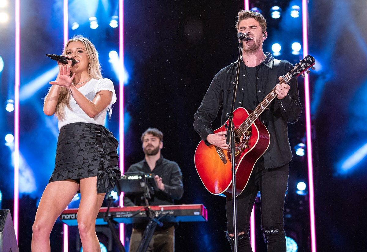 Kelsea Ballerini with The Chainsmokers; Photo by Andrew Wendowski