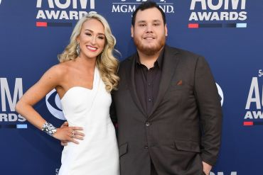 Nicole Hocking and Luke Combs; Photo by Ethan Miller/Getty Images