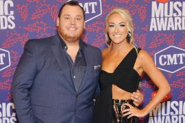 Luke Combs and Nicole Hocking; Photo by Mike Coppola/Getty Images for CMT