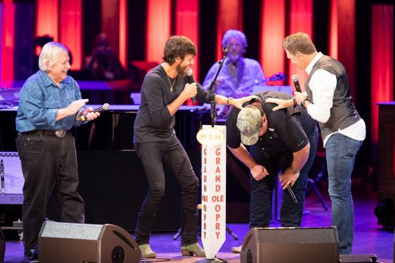 Luke Combs Opry Invitation; Photo by Chris Hollo/Grand Ole Opry