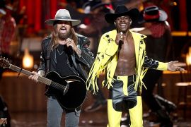 Billy Ray Cyrus and Lil Nas X; Photo by Frederick M. Brown/Getty Images for BET