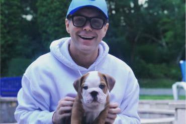 Bobby Bones and his puppy, Stanley; Photo via Instagram