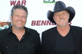 Blake Shelton, Trace Adkins; Photo by Joshua Blanchard/Getty Images for Forrest Film
