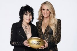 Joan Jett, Carrie Underwood; Photo Courtesy Sunday Night Football