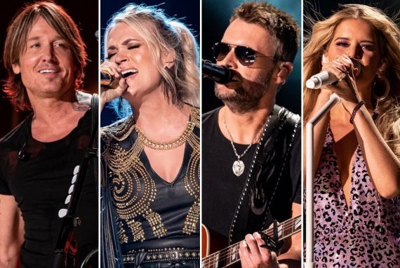 Keith Urban, Carrie Underwood, Eric Church, Maren Morris; Photos by Andrew Wendowski