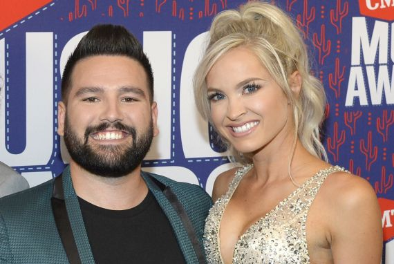 Shay Mooney and Hannah Billingsley; Photo by Rick Diamond/Getty Images for CMT