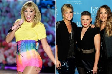 Taylor Swift; Photo by Kevin Winter/Getty Images for iHeartMedia, Dixie Chicks; Photo by Kevin Winter/Getty Images