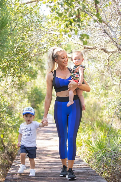 Brittany Aldean, Son, Memphis and Daughter, Navy; Photo Courtesy South Beach Diet