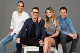 """'The Bobby Bones Show' - Bobby Bones, Amy Brown, """"Lunchbox"""" Dan Chappell, and Eddie Garcia; Photo Courtesy Premiere Networks"""