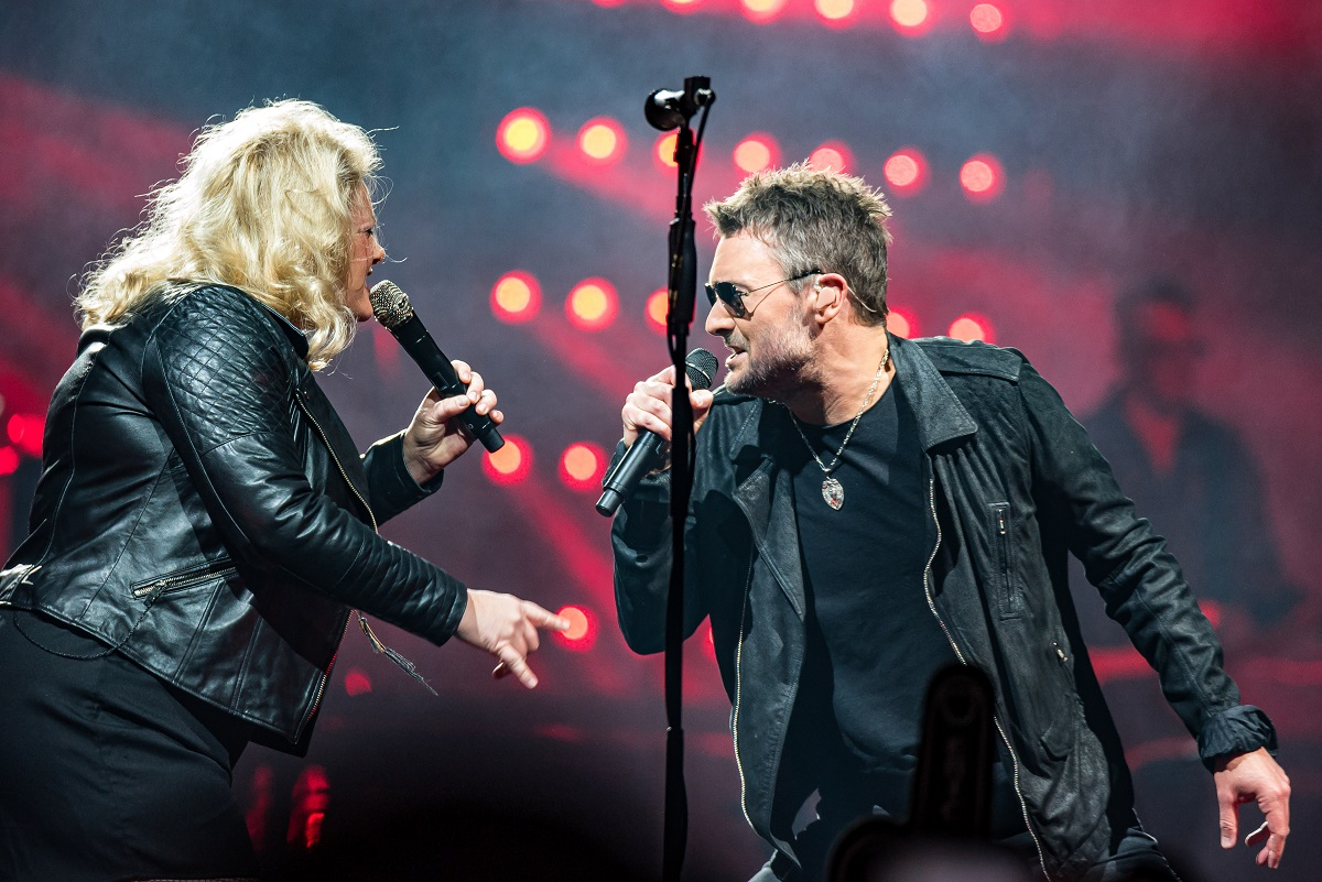 Eric Church with Joanna Cotten; Photo by Andrew Wendowski
