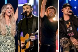 Lindsay Ell; Photo by Andrew Wendowski, Sam Hunt; Photo by Jason Kempin/Getty Images for CMT/Viacom, Chris Janson; Photo by Jason Kempin/Getty Images, Kane Brown; Photo by Andrew Wendowski