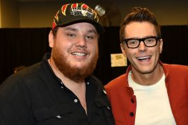 Luke Combs, Bobby Bones; Photo by Rick Diamond/Getty Images for CMT