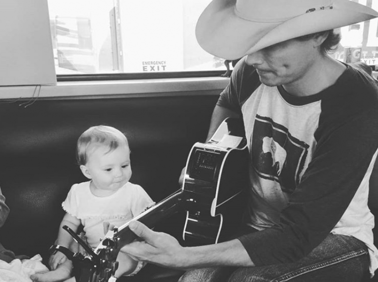 Ned LeDoux and Daughter; Photo via Instagram