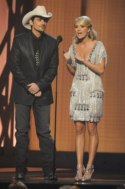 Brad Paisley and Carrie Underwood; Photo by Rick Diamond/Getty Images