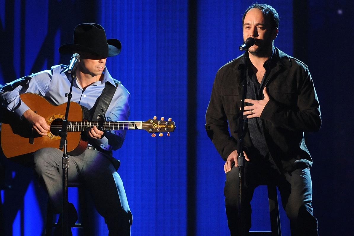 Kenny Chesney and Dave Matthews; Photo by Rick Diamond/Getty Images