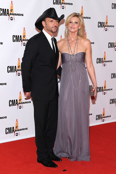 Tim McGraw and Faith Hill; Photo by Frederick Breedon/Getty Images