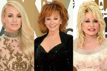 Carrie Underwood, Reba McEntire and Dolly Parton; Photo by Jason Kempin/Getty Images