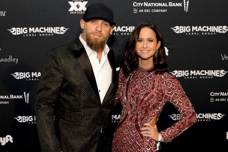 Brantley Gilbert and Amber Gilbert; Photo by Jason Kempin/Getty Images for Big Machine Label Group