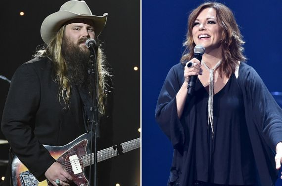 Chris Stapleton; Photo by Theo Wargo/Getty Images for Blackbird,Martina McBride; Photo by John Shearer/Country Rising/Getty Images
