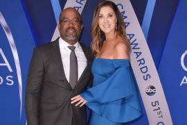 Darius Rucker and wife Beth Leonard; Photo by Michael Loccisano/Getty Images