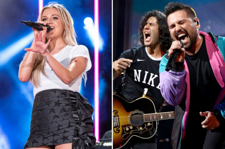 Kelsea Ballerini; Photo by Andrew Wendowski, Dan + Shay; Photo by Photo by Rich Fury-Getty Images for iHeartMedia