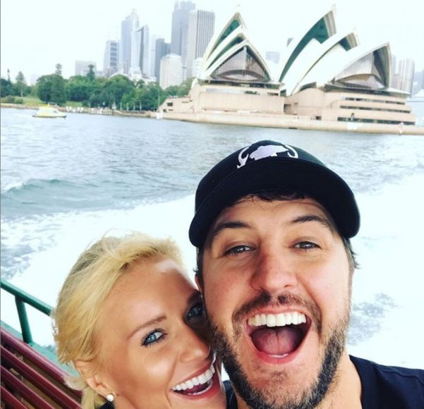 Luke Bryan and Wife Caroline 6