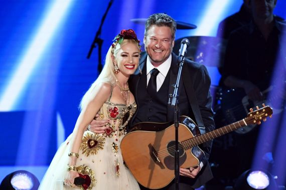 Gwen Stefani and Blake Shelton; Photo by Kevin Winter/Getty Images for The Recording Academy