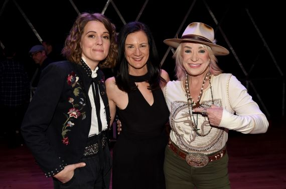 Brandi Carlile, Leslie Fram and Tanya Tucker; Photo by Rick Diamond/Getty Images for CMT