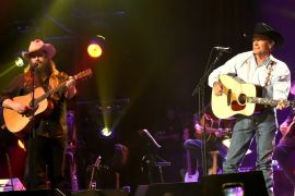 Chris Stapleton and George Strait; Photo by Rick Diamond/Getty Images for George Strait