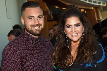 Chris Tyrrell and Hillary Scott; Photo by Rick Diamond/Getty Images for CMT