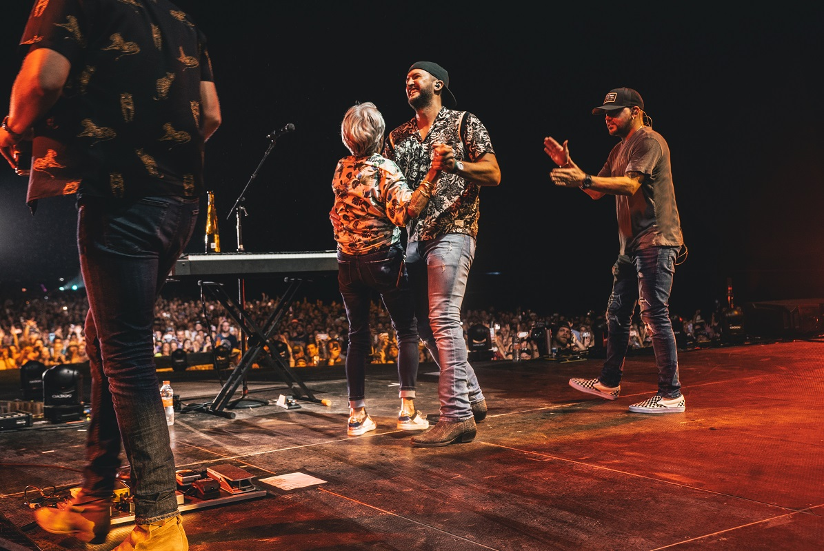 Luke Bryan and LeClaire Bryan; Photo by Ethan Helms