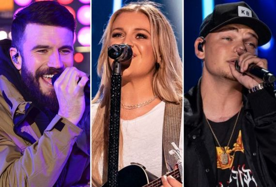 Sam Hunt; Photo by Eugene Gologursky/Getty Images for Dick Clark Productions, Kelsea Ballerini; Photo by Andrew Wendowski Kane Brown; Photo by Andrew Wendowski