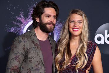 Thomas Rhett and Lauren Akins; Photo by Rich Fury/Getty Images