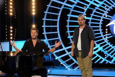 American Idol Contestant Doug Kiker and Luke Bryan; Photo by ABC/Eliza Morse
