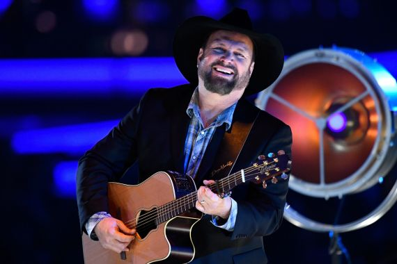 Garth Brooks; Photo by Kevork Djansezian/Getty Images for The Recording Academy