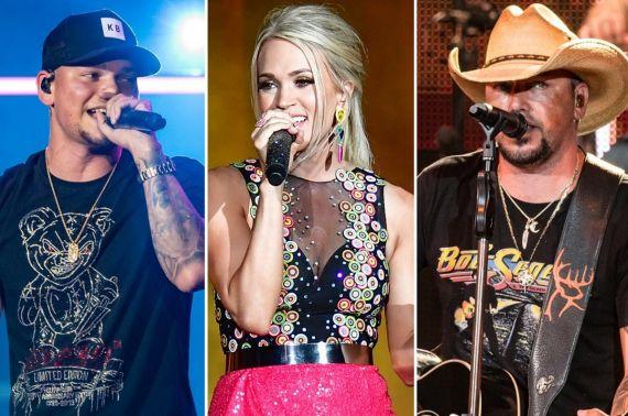Kane Brown, Carrie Underwood, Jason Aldean