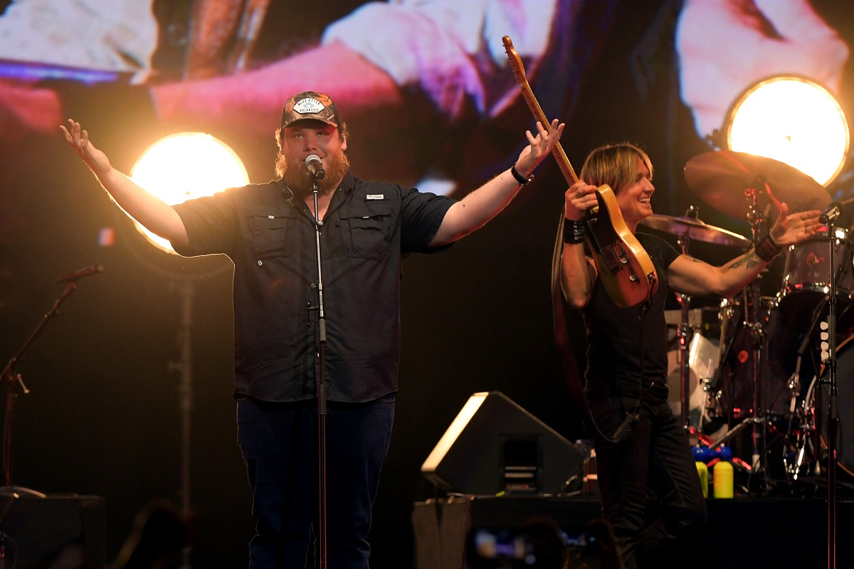 Luke Combs, Keith Urban; Photo by Jason Kempin/Getty Images for Country Music Hall of Fame and Museum