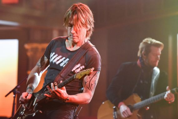 Keith Urban; Photo by Scott Kowalchyk/CBS ©2020 CBS Broadcasting Inc. All Rights Reserved.