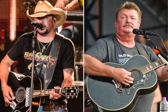 Jason Aldean; Photo by Andrew Wendsowski, Joe Diffie; Photo by Timothy Hiatt/Getty Images for Country Thunder