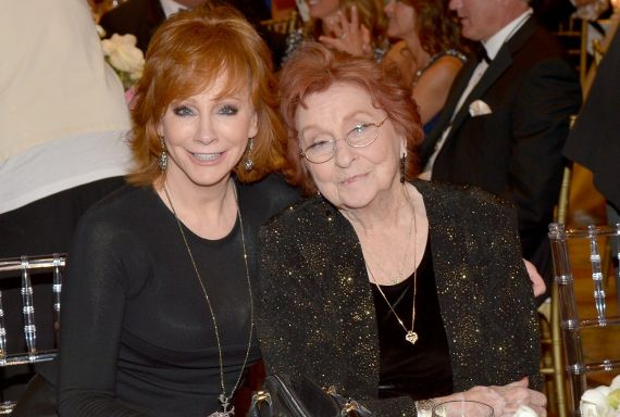 Reba McEntire and her Mother, Jacqueline; Photo by Charley Gallay/Getty Images for Celebrity Fight Night