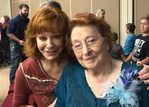 Reba McEntire with Mother Jacqueline McEntire; Courtesy of Reba on Instagram