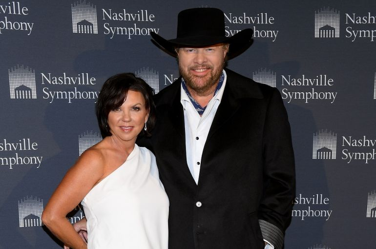 Tricia Lucus and Toby Keith; Photo by Jason Kempin/Getty Images