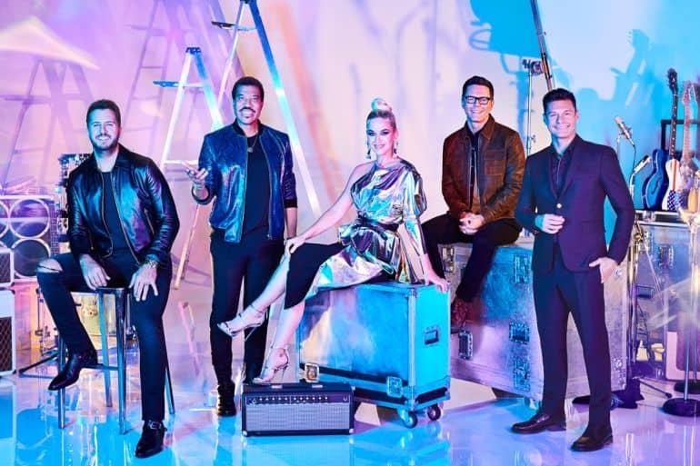 'American Idol' Judges Luke Bryan, Lionel Richie, Katy Perry and Hosts Bobby Bones and Ryan Seacrest; Photo Courtesy of Gavin Bond/ABC