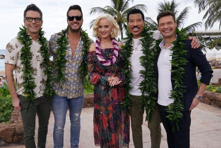 Bobby Bones, Luke Bryan, Katy Perry, Lionel Richie, and Ryan Seacreast: Photo by ABC/Karen Neal
