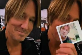 Keith Urban, Polaroid; Photo via Instagram
